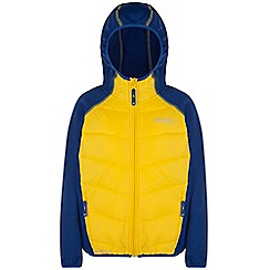 Regatta - Kids Blue/yellow kielder quilted super stretch jacket