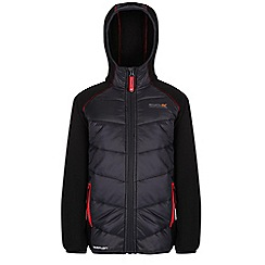 Regatta - Boys Seal grey/ black kielder quilted super stretch jacket