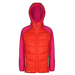 Regatta - Girls Orange/ red kielder quilted super stretch jacket