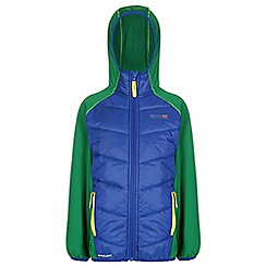 Regatta - Boys Blue/ green kielder quilted super stretch jacket