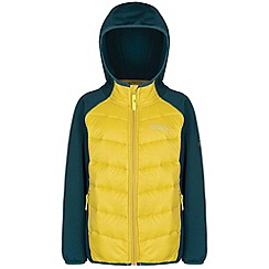 Regatta - Kids Yellow Kielder quilted super stretch jacket