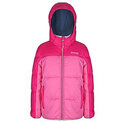 Regatta - Girls Pretty pink giant quilted jacket