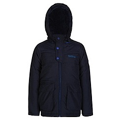 Regatta - Boys Navy zipper quilted water repellent jacket