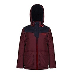 Regatta - Boys Burgundy zipper quilted water repellent jacket