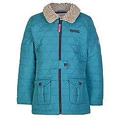 Regatta - Girls Turquoise galloper qulited jacket