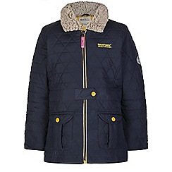 Regatta - Girls Navy galloper qulited jacket