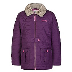 Regatta - Girls Blackcurrant galloper qulited jacket