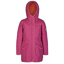 Regatta - Girls Pink tickitiboo quilted parka