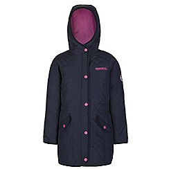 Regatta - Girls Navy tickitiboo quilted parka