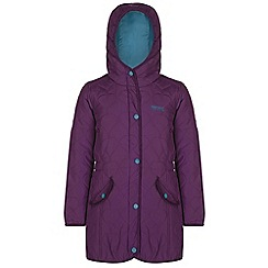 Regatta - Girls Blackcurrant tickitiboo quilted parka