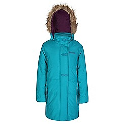 Regatta - Girls Turquoise wishfull quilted parka