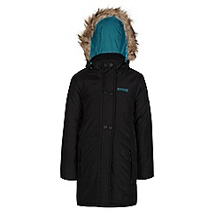 Regatta - Girls Black wishfull quilted parka