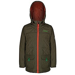 Regatta - Boys Ivy green bashfull quilted jacket