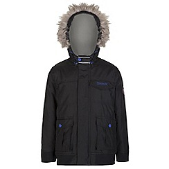 Regatta - Boys Black whackie water repellent jacket