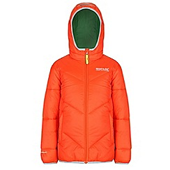 Regatta - Boys Orange icebound quilted jacket