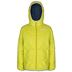 Regatta - Girls Neon yellow icebound quilted jacket