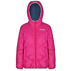 Regatta - Girls Pink icebound quilted jacket