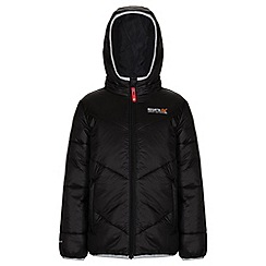 Regatta - Boys Black icebound quilted jacket