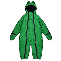Regatta - Boys Green pudgie quilted water repellent onesie