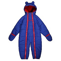 Regatta - Boys Bright blue pudgie quilted water repellent onesie