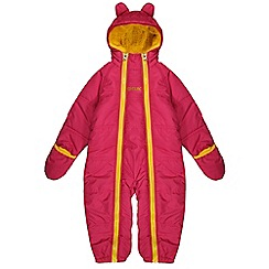 Regatta - Girls Pink pudgie quilted water repellent onesie