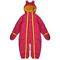 Regatta - Girls Pink pudgie quilted water repellent onesie