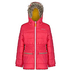 Regatta - Girls Red Skyward quilted parka
