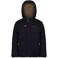 Regatta - Kids Navy Zipper quilted jacket