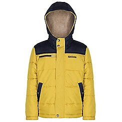 Regatta - Kids Yellow Zipper quilted jacket
