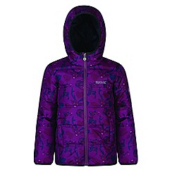 Regatta - Kids Purple 'Coulby' print jacket