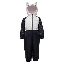 Regatta - Black mudplay waterproof onesie