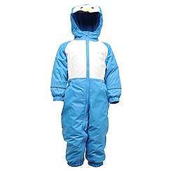 Regatta - French blue mudplay waterproof onesie