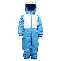 Regatta - French blue mudplay waterproof onesie