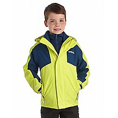 Regatta - Boys Neon yellow flume 3 in 1 waterproof jacket