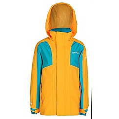 Regatta - Girls Golden yellow flume 3 in 1 waterproof jacket