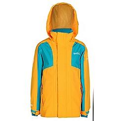 Regatta - Girls Golden yellow flume 3 in 1 waterproof jacket