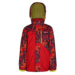 Regatta - Girls Red blaster 3 in1 waterproof jacket