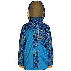Regatta - Boys Blue blaster 3 in1 waterproof jacket