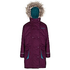Regatta - Girls Blackcurrant trapeze waterproof parka