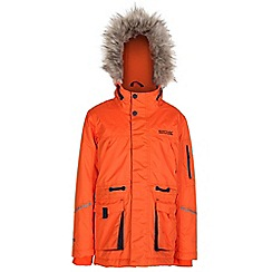 Regatta - Boys Magma orange kongo waterproof parka