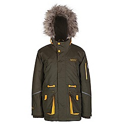 Regatta - Boys Ivy green kongo waterproof parka