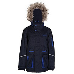 Regatta - Boys Navy kongo waterproof parka