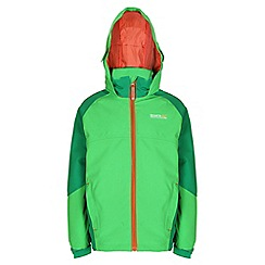 Regatta - Boys Green paratrooper waterproof jacket