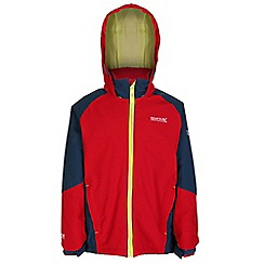 Regatta - Boys Red paratrooper waterproof jacket
