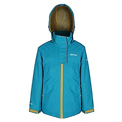 Regatta - Girls Turquoise spinball waterproof jacket