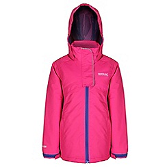 Regatta - Girls Pink spinball waterproof jacket