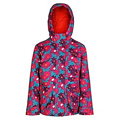 Regatta - Girls Petal bouncy print waterproof jacket