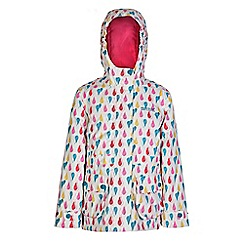 Regatta - Girls Polar bear bouncy print waterproof jacket