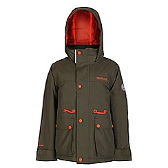 Regatta - Boys Ivy green starship waterproof jacket