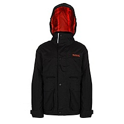 Regatta - Boys Black starship waterproof jacket